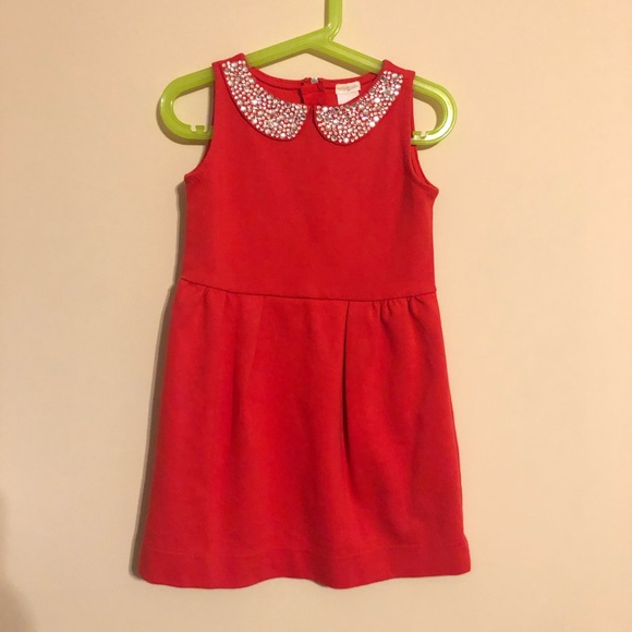 Crewcuts Other - Crewcuts red dress with rhinestone collar